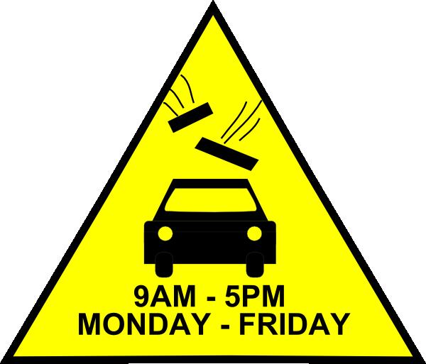 car danger sign